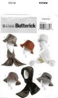 Butterick B4366 Misses Hats, Headband, Head Wrap