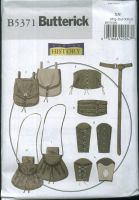 Butterick B5371 Making History Misses'/Men's Wrist Bracers, Corset, Belt and Pouches