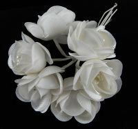 French Flowers - Rose Buds Bunch of 6 - Bridal Trim 009