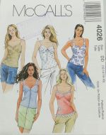 McCall's 4026 Misses Lined Tops