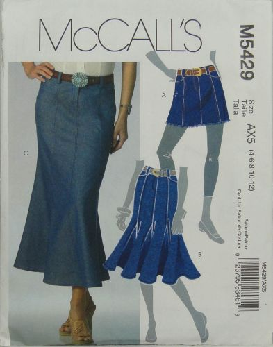 McCall's M5429 Misses Skirts in three lengths