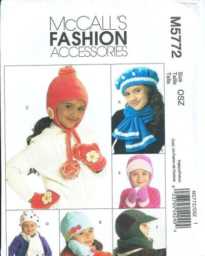 McCall's M5772 Fashion Accessories Boys and Girls