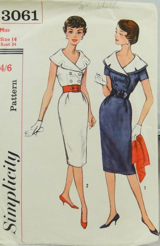Simplicity 3061 Misses Dress with Detachable Collar