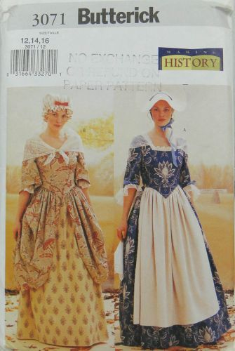 Butterick Making History 3071 Historical Costume