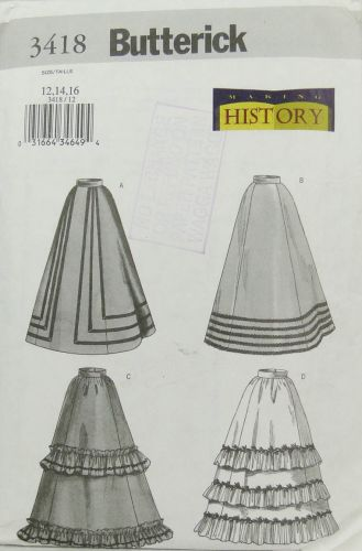 Butterick 3418 Making History Misses Skirt