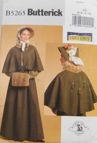 Butterick Making History B5265 Misses Historical Costume