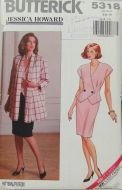 Butterick 5318 Jessica Howard Misses Petite Jacket, Top and Skirt