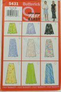 Butterick 5431 9 Sew Fast and Easy Misses Petite Skirt