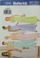 Butterick 5886 Fast and Easy Classics Misses Petite Dress and Scarf