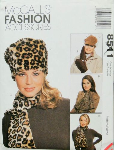 McCall's Fashion Accessories 8511 Hats, Scarves and Mittens