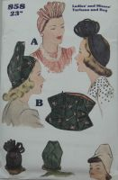 McCall's 858 Hats & Bag Reproduction Pattern