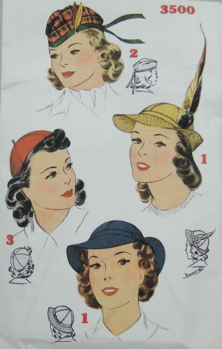 Simplicity Reproduction Pattern 3500 Misses Hats