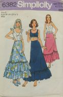 Simplicity 6382 Misses Top and Skirt