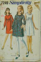 Simplicity 7249 Misses Dress in Two Lengths