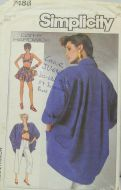 Simplicity Cathy Hardwick 7488 Misses Pants, Top, Shorts and Oversized Jacket