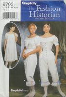 Simplicity 9769 The Fashion Historian Martha McCain Misses Authentic Civil War Undergarments