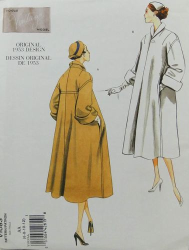 "Vogue  V1083 ""Vintage Model"" Original 1953 Design Misses Coat"