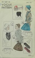 Vogue Pattern Service 5669  Hats, Bags and Lounging Slippers