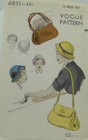 Vogue Pattern 6831 Misses Hats and Bags