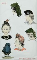 Vogue 8530 Reproduction Misses Hat in Two Variations
